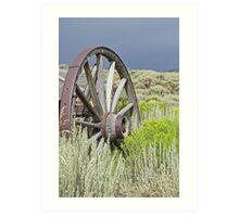 Sage and Wagon Wheels Art Print