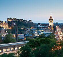 Edinburgh from Calton Hill by Florian Wieser