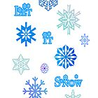 Let It Snow Card - White by 2HivelysArt