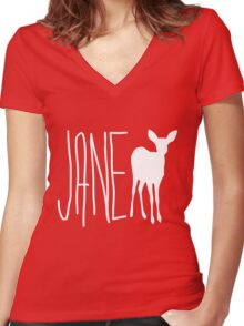 Max's Shirt - Jane Doe  Women's Fitted V-Neck T-Shirt