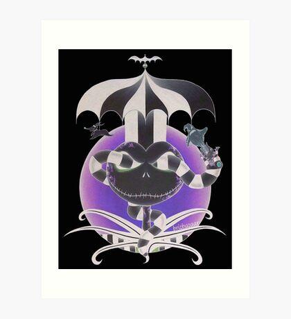 BeetleJack Invert - black Art Print