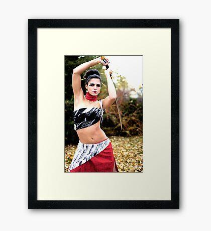 posed Framed Print
