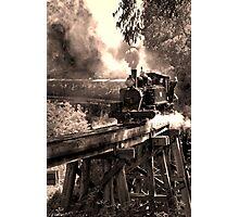Crossing the bridge Photographic Print