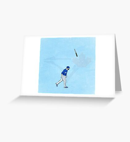 Jose Bat Flip. Greeting Card
