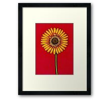 Single Yellow Gerbera Framed Print