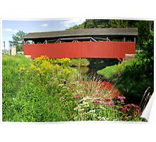 The Historic Buttonwood Covered Bridge In September Poster