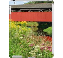 The Historic Buttonwood Covered Bridge In September iPad Case/Skin