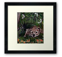 ICON ~ Thylacine and Pup by tasmanianartist Framed Print