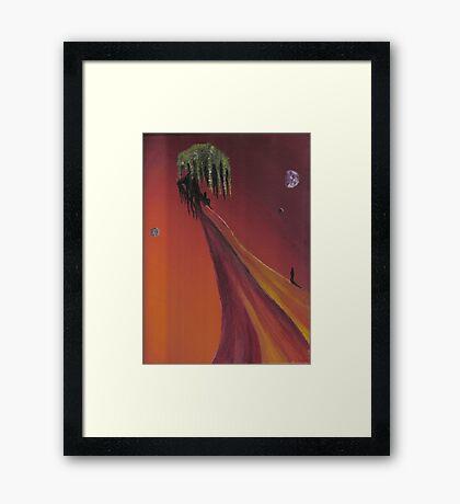 Alien tree Framed Print