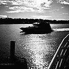 Fast Ferry Enters New London Harbor on the Thames River by Jack McCabe
