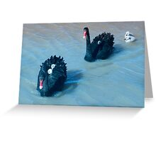 The Swan Family Greeting Card