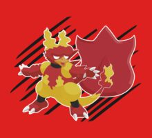 Volcano Badge Magmar Kids Tee