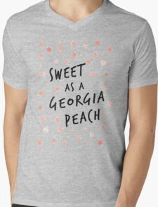 Sweet as a Georgia Peach Mens V-Neck T-Shirt