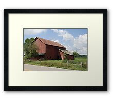 Northern Indiana Farm Country Framed Print