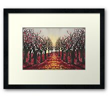Redrum in the Trees Framed Print