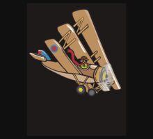 Triplane T-shirt Black by robertemerald
