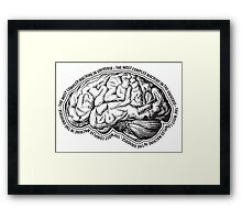 Brain. The Most Complex Machine in the Universe. Framed Print
