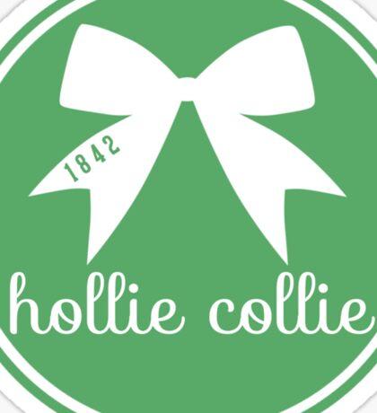 Hollie Collie Bow - Green Sticker