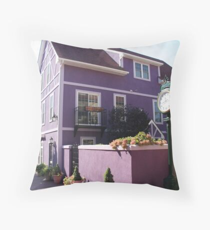 Purple Building - Stoudtburg Village, PA Throw Pillow