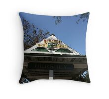 Trolley Stop - Hershey, PA Throw Pillow