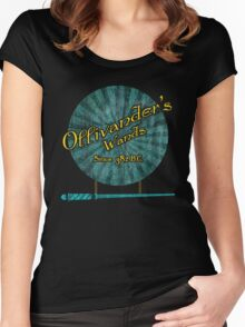 Ollivanders Wands Women's Fitted Scoop T-Shirt