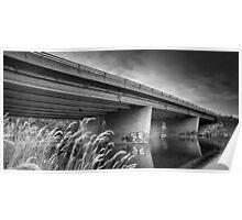 Bridge reflections - Black & White Poster