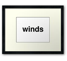 winds Framed Print