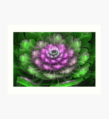 3D Blooms - Dropped Art Print