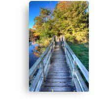 Morton Arboretum Bridge Canvas Print