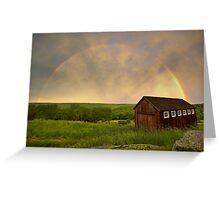 Rainbow Evening Greeting Card