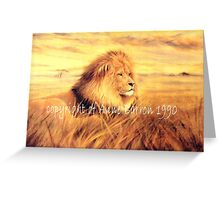 African Gold Greeting Card