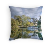Winery Pond Throw Pillow