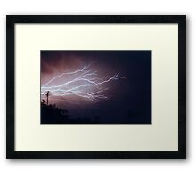 Fork Lightning Framed Print