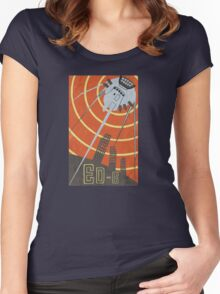 Vintage Poster ED-E Women's Fitted Scoop T-Shirt