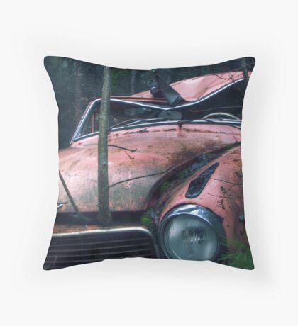 11.11.2011: Crowing through the Car Throw Pillow