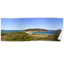 Broulee Island Panorama Poster