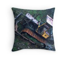 11.11.2011: Old, Abandoned Bulldozer Throw Pillow