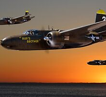 Red Sky at Morning - USAAF 3BG Version by Mark Donoghue