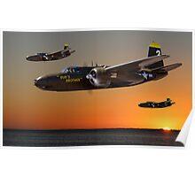 Red Sky at Morning - USAAF 3BG Version Poster