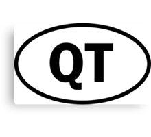Cutie - QT - cutey - oval sticker and more Canvas Print