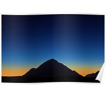 Dusk over Glencoe, Scotland Poster
