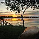Sunset on Lake Louise by Dawne Olson