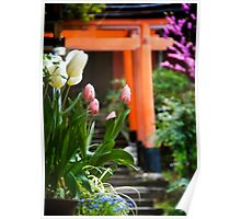 Fushimi Inari Tulips Poster