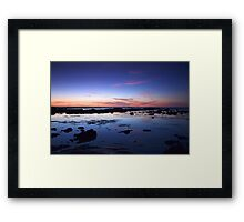 Moss Beach Reflection Framed Print