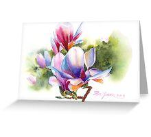 Vibrant Magnolia  Greeting Card