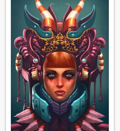 Rashah Queen Portrait Sticker