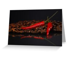 Chilli and Coffee Greeting Card