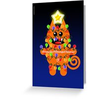 CHRISTMASKAT Greeting Card