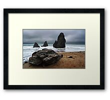 Rodeo Beach Towers Framed Print