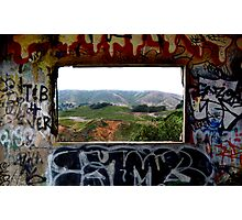 Window Through the Paint Photographic Print